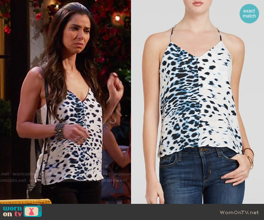 Townsen Swoon Printed Cami worn by Roselyn Sanchez on Devious Maids
