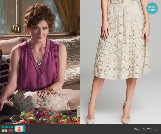 Tracy Reese Raffia Lace Dolce Vida Skirt worn by Evelyn Powell on Devious Maids