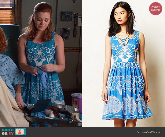 Anthropologie Azure Lace Dress worn by Kaitlyn Black on Hart of Dixie