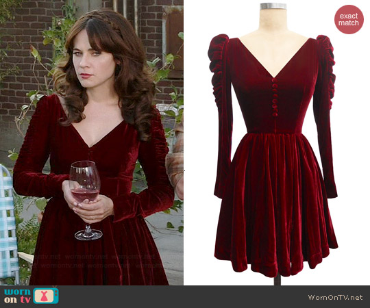 Trashy Diva Victorian Mini Dress worn by Zooey Deschanel on New Girl