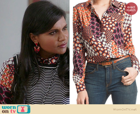 Trina Turk Crystal 2 Top worn by Mindy Kaling on The Mindy Project