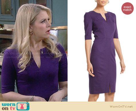 Trina Turk Danton Dress in Blackberry worn by Melissa Joan Hart on Melissa & Joey