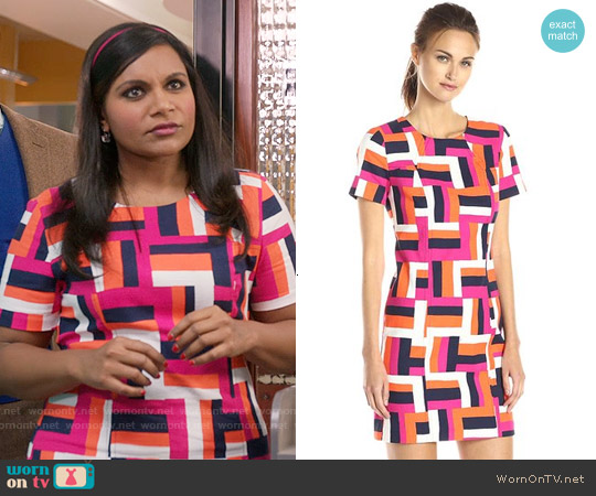 Trina Turk Emilie Dress worn by Mindy Kaling on The Mindy Project