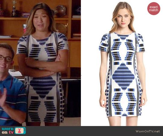 Trina Turk Katie Ziggurat Dress worn by Jenna Uskowitz on Glee
