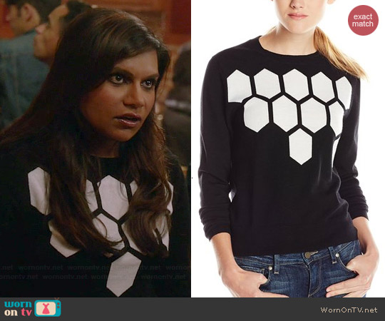 Trina Turk Landon Sweater worn by Mindy Kaling on The Mindy Project