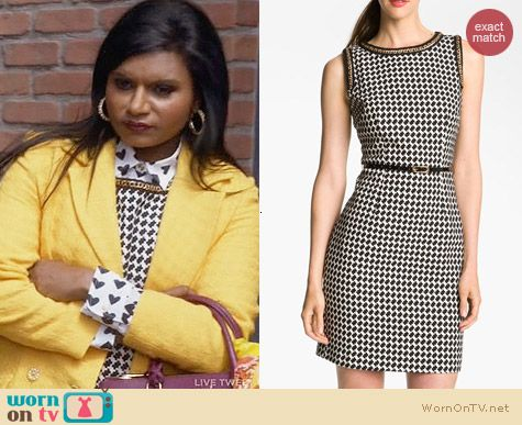 Trina Turk Mirren Chain Trim Dress worn by Mindy Kaling on The Mindy Project