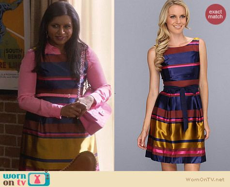 Trina Turk Sabra Dress worn by Mindy Kaling on The Mindy Project