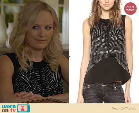 Fashion of Trophy Wife: ALC Ascher Top worn by Malin Akerman