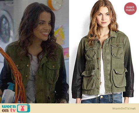Trophy Wife Fashion: Current/Elliott Lone Solder Ombre Jacket worn by Natalie Morales