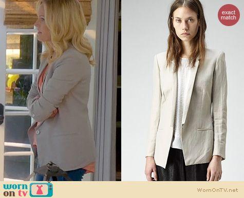 Trophy Wife Fashion: Helmut Lang Linen Blazer worn by Malin Akerman