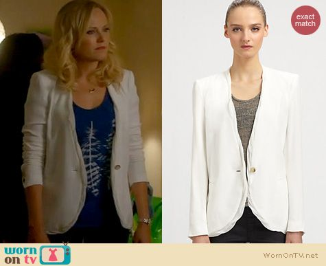Trophy Wife Fashion: Helmut Lang Twisted Blazer worn by Malin Akerman