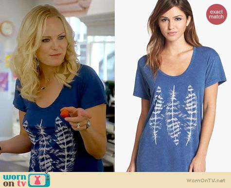Trophy Wife Fashion: Idlewild Feathers Tee worn by Malin Akerman