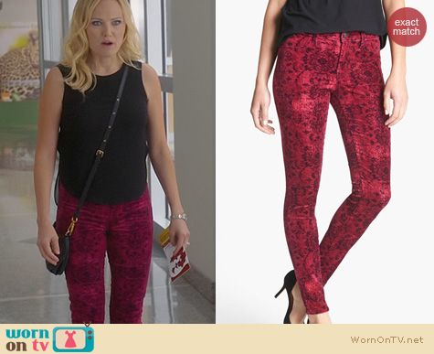 Trophy Wife Fashion: J Brand Gaya Skinny Jeans worn by Malin Akerman
