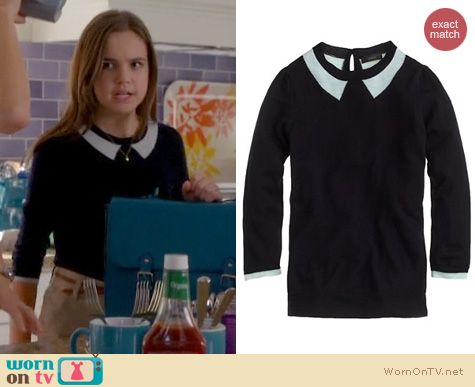 Trophy Wife Fashion: J. Crew Trome L'Oeil Tippi Sweater worn by Bailee Madison