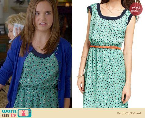 Trophy Wife Fashion: Macys Maison Jules Bird Print dress worn by Bailee Madison