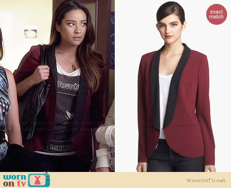 Trouve Open Front Blazer worn by Shay Mitchell on PLL