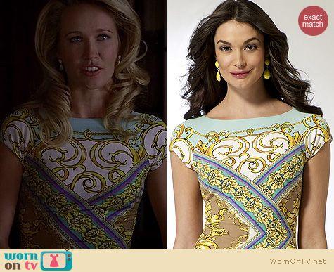 True Blood Fashion: Cache Mirrored Status dress worn by Anna Camp