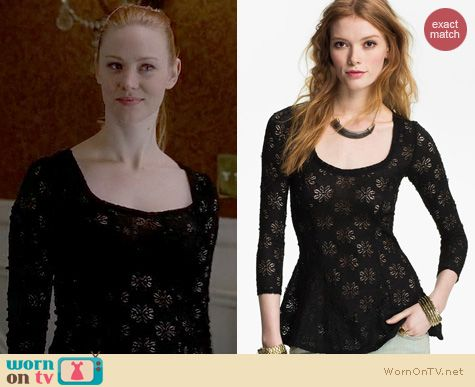 True Blood Fashion: Free People Daisy Pointelle top worn by Deborah Ann Woll