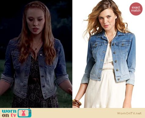 True Blood Fashion: Jessica Simpson Miro denim jacket worn by Deborah Ann Woll