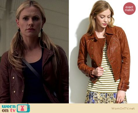True Blood Fashion: Madewell Double Breasted Moto Jacket worn by Anna Paquin