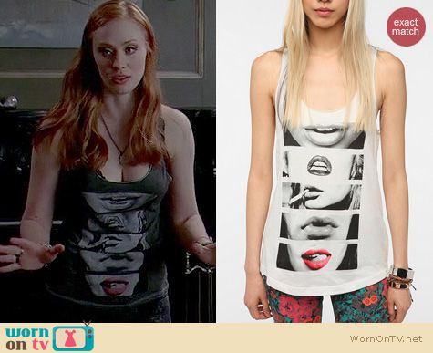 True Blood Fashion: Urban Outfitters Corner Shop Lip Stack tank top worn by Deobrah Ann Woll