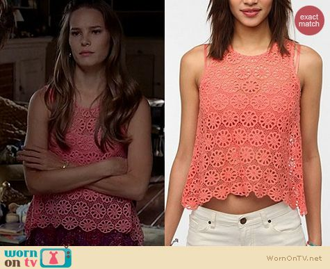 True Blood Fashion: Urban Outfitters Pins & Needles Daisy Lace swing tank worn by Bailey Noble