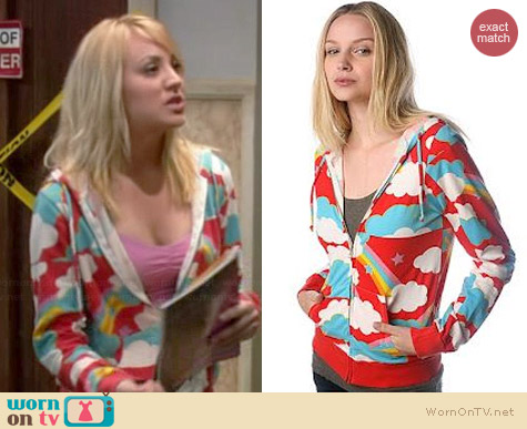 Truly Madly Deeply Celestial Print Hoodie worn by Kaley Cuoco on The Big Bang Theory