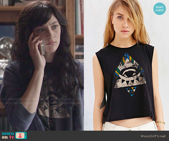 Truly Madly Deeply Mystic Geo Eye Tank Top worn by Aubrey Peeples on Nashville