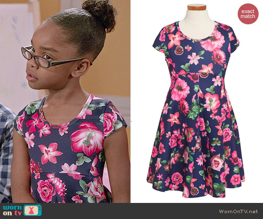 Truly Me Floral Print Dress worn by Marsai Martin on Blackish