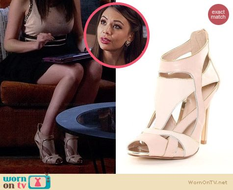 Truth or Dare by Madonna Tommye Evening Sandals worn by Janel Parrish on PLL