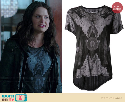 Tuesday Night Band Practice Abstract Tee worn by Katie Lowes on Scandal