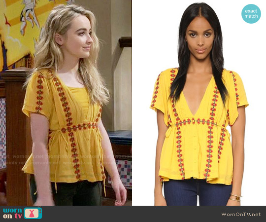 Tularosa Moonrise Top worn by Sabrina Carpenter on Girl Meets World