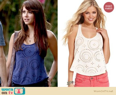 TVD Fashion: Jessica Simpson Leigh Tank worn by Nina Dobrev
