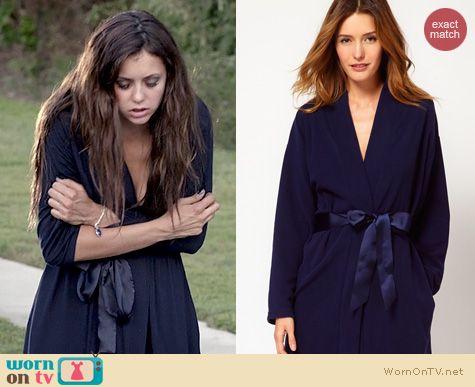 TVD Fashion: Princess Tam Tam Blue Cappuccino robe worn by Nina Dobrev