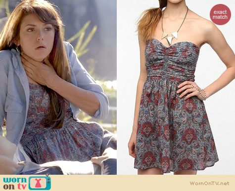 TVD Style: Urban Outfitters Band of Gypsies Printed dress worn by Nina Dobrev