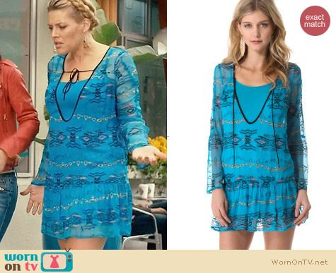 Twelfth St. by Cynthia Vincent Reversible Plunging Neck Dress worn by Busy Phililps on Cougar Town