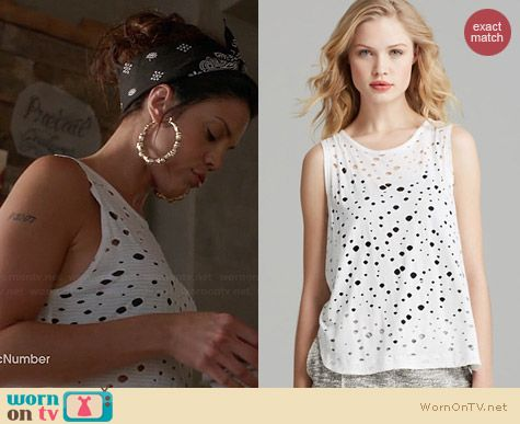 Twenty Tees Rippled Perforated Muscle Tee worn by Vanessa Ferlito on Graceland