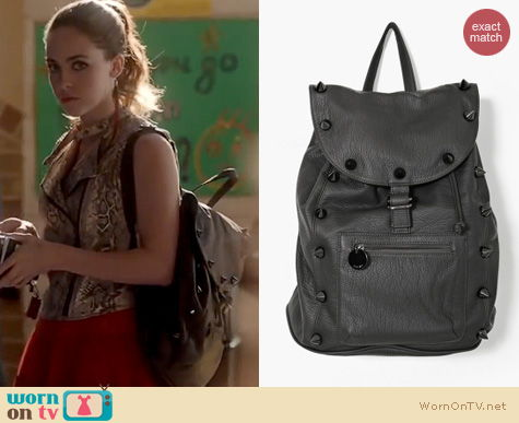 Twisted Fashion: Nasty Gal Empire Spike Backpack worn by Brittany Curren