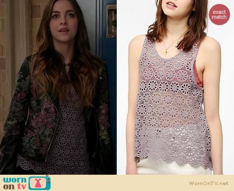 Twisted Fashion: Urban Outfitters Daisy lace swing tank by Pins and Needles worn by Brittany Curran