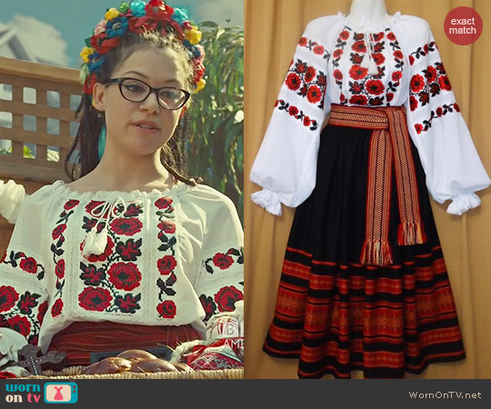 Ukranian Site Costume #51 worn by Tatiana Maslany on Orphan Black