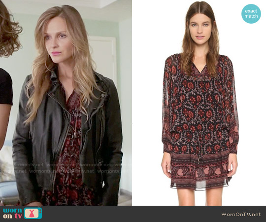 Ulla Johnson Aida Dress in Dark Red worn by Beau Garrett on GG2D