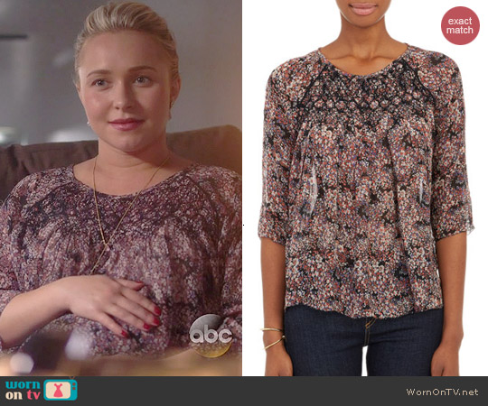 Ulla Johnson Mini-Floral Hazel Blouse worn by Hayden Panettiere on Nashville