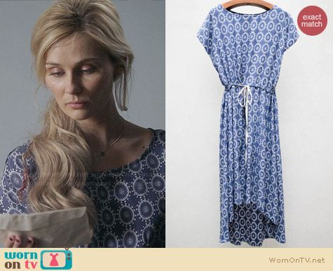 Ulla Johnson Spindle Block Print Dress worn by Clare Bowen on Nashville