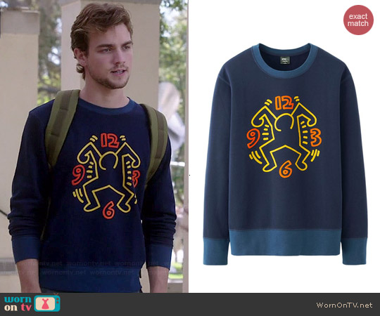Uniqlo Keith Haring Sprz NY Graphic Sweat worn by Austin Caldwell on Switched at Birth