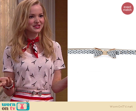 Unique Vintage Polka Dot Bow Belt worn by Dove Cameron on Liv & Maddie