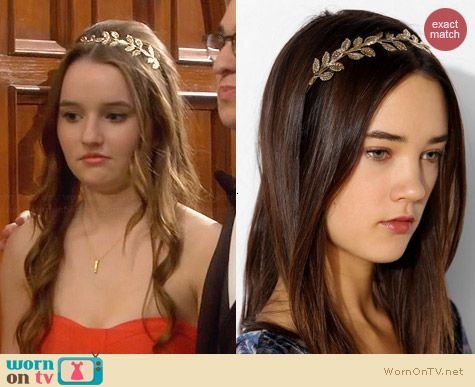Urban Outfitters Athena Headband worn by Kaitlyn Dever on Last Man Standing