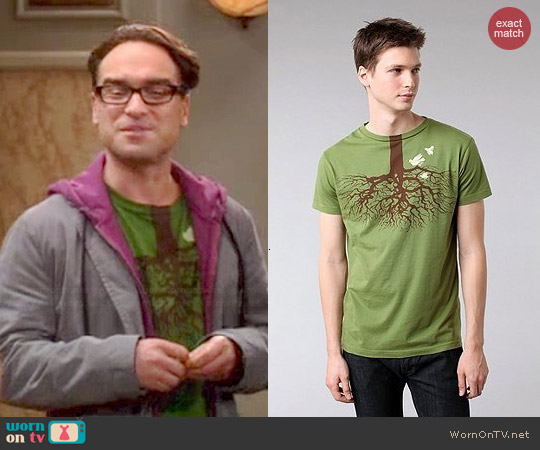 Urban Outfitters Brown Sound Fly Lower Tee worn by Leonard on The Big Bang Theory