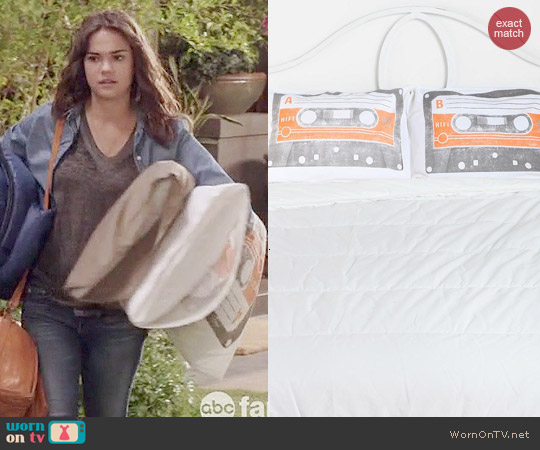 Urban Outfitters Cassette Pillowcase Set used by Callie Jacob on The Fosters