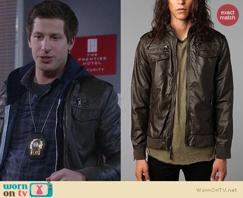 Charles & 1/2 Moto Jacket worn by Andy Samberg on Brooklyn 99