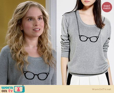 Cooperative Suzy Pullover Sweater from Urban Outfitters worn by Allie Grant on Suburgatory